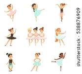 little girls dancing ballet in... | Shutterstock .eps vector #538876909