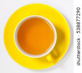 perfect cup of tea on white... | Shutterstock . vector #538877290