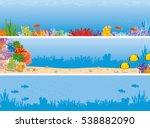 sea reef banner. underwater... | Shutterstock .eps vector #538882090
