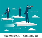 businessman standing on paper... | Shutterstock .eps vector #538888210