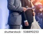 master of ceremonies with... | Shutterstock . vector #538890253