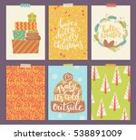 collection of christmas card... | Shutterstock . vector #538891009
