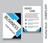 vector brochure flyer design... | Shutterstock .eps vector #538891309