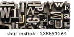 metal letterpress types. ... | Shutterstock . vector #538891564
