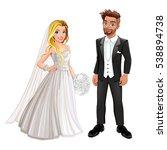 bride and groom in the wedding... | Shutterstock .eps vector #538894738