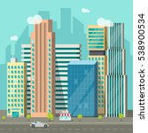 cityscape vector illustration ... | Shutterstock .eps vector #538900534