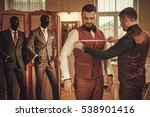 tailor measuring client for... | Shutterstock . vector #538901416