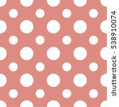 seamless polka dots pattern... | Shutterstock .eps vector #538910074