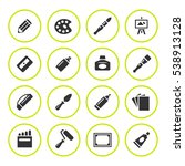 set round icons of art isolated ... | Shutterstock . vector #538913128