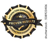 proven results  satisfaction... | Shutterstock .eps vector #538923406