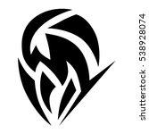tattoo tribal vector design... | Shutterstock .eps vector #538928074