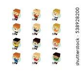 soccer player isometric cartoon | Shutterstock . vector #538928200