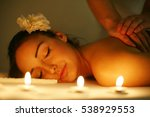 woman during a massage... | Shutterstock . vector #538929553