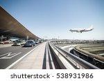 beijing capital airport  scene... | Shutterstock . vector #538931986