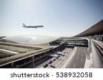beijing capital airport  scene... | Shutterstock . vector #538932058