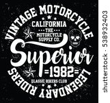 vintage motorcycle  california  ... | Shutterstock .eps vector #538932403