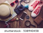 travel accessories costumes. ... | Shutterstock . vector #538940458