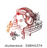 colorful music background.... | Shutterstock .eps vector #538941574