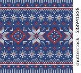 christmas knitting seamless...   Shutterstock .eps vector #538941838