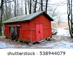 Red Fisherman Shed. Finland.