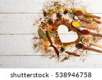valentine set of ingredients... | Shutterstock . vector #538946758