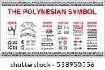 polynesian tattoo symbols vector