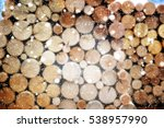 Pile Of Firewood Background....