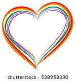 lgbt rainbow heart symbol of... | Shutterstock . vector #538958230