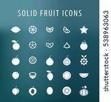 set of 25 universal solid fruit ... | Shutterstock .eps vector #538963063