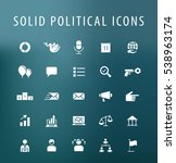 set of 25 universal solid... | Shutterstock .eps vector #538963174