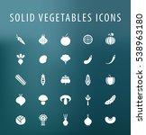 set of 25 universal solid... | Shutterstock .eps vector #538963180