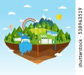 vector illustration of ecology... | Shutterstock .eps vector #538963519