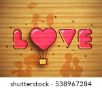 Pink Text Love With Heart...