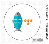 fish and caviar icon   Shutterstock .eps vector #538967578