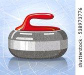 stone for curling sport game.... | Shutterstock .eps vector #538973776