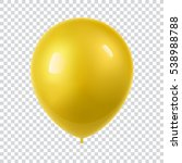 3d realistic colorful balloon.... | Shutterstock .eps vector #538988788
