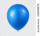 3d realistic colorful balloon.... | Shutterstock .eps vector #538988878