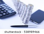 counting income  pile of money  ... | Shutterstock . vector #538989466
