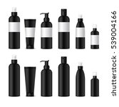 realistic cosmetic bottles on... | Shutterstock .eps vector #539004166