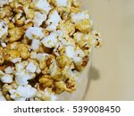 popcorn close up top view | Shutterstock . vector #539008450