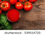 italian food background with... | Shutterstock . vector #539014720