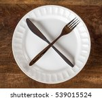intermittent fasting concept... | Shutterstock . vector #539015524