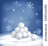 christmas background with a... | Shutterstock . vector #539016490