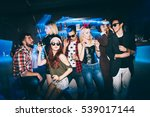 group of friends at club having ... | Shutterstock . vector #539017144