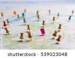 pin marking location on map | Shutterstock . vector #539023048