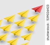 leader of aircraft guidance.... | Shutterstock .eps vector #539026423
