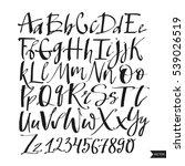 alphabet letters.black... | Shutterstock .eps vector #539026519