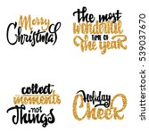 merry christmas  the most... | Shutterstock .eps vector #539037670