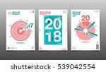 annual report 2017 2018 2019... | Shutterstock .eps vector #539042554