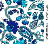 seamless pattern with fantasy... | Shutterstock .eps vector #539042608